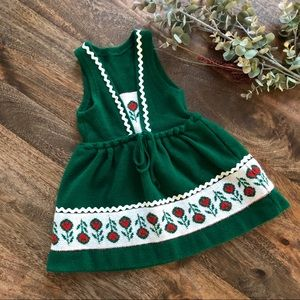 vintage German Bayer Sweater Dress, app Size 12-18